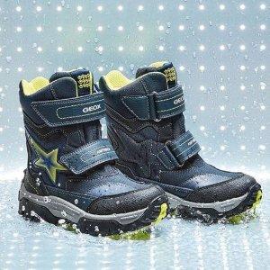 5折起+最高额外8折 包邮GEOX官网 开心踩水,防水透气会呼吸的童鞋,多州免税
