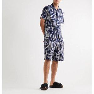 Blue Blue Japan斑马纹衬衫