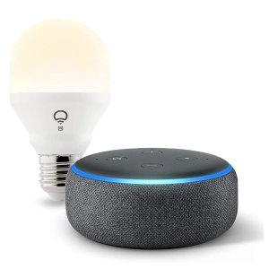$39.99(原价$94.98)Echo Dot+LIFX Wi-Fi智能灯泡套装 四色可选
