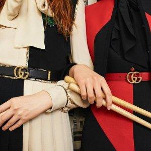 4折起!£347收大号双G腰带LN-CC 精选品牌独家闪促 Gucci、Prada、Acne、Off White