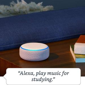 现价£34.99 (原价£49.99)Alexa Echo Dot(3代)折扣复活 智能音箱好价热促