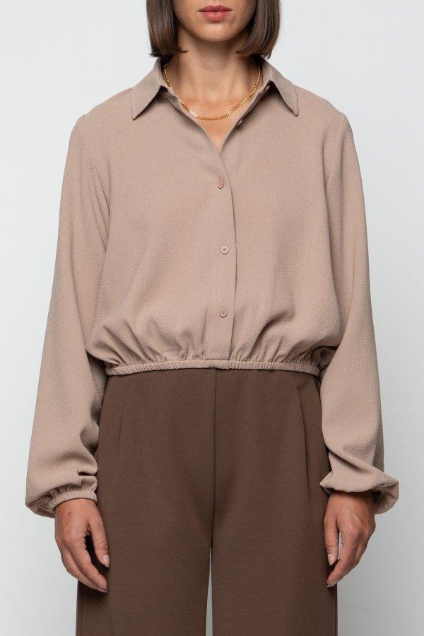 纯色短款衬衣