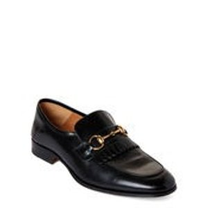 GucciBlack Horsebit Leather Loafers
