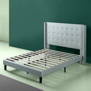 Zinus 铆钉装饰布艺床架,Full