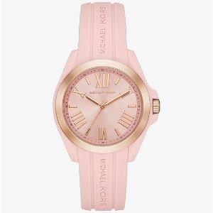 282c75dd07fe Michael KorsBradshaw Rose Gold-Tone and Silicone Watch