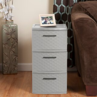 $19.64Sterilite, 3 Drawer Weave Tower, Cement, Case of 2