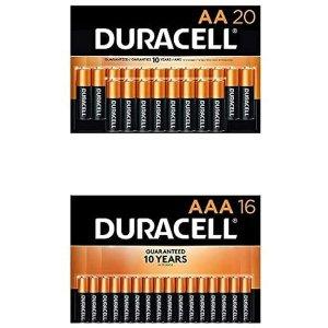 $30.73(原价$38.98)Duracell 金霸王 AA+AAA铜头碱性电池36件套