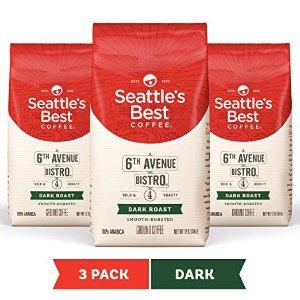 $12.77 提神醒脑Seattle's Best Coffee 深度烘焙咖啡粉 12oz. 3包
