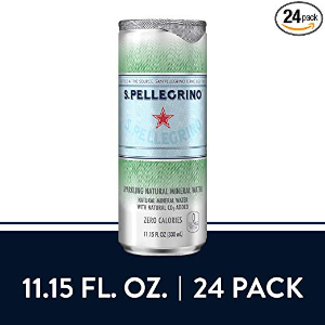 $13.29 一罐只需$0.55S.Pellegrino 圣培露意大利气泡矿泉水 11.2oz. 24罐