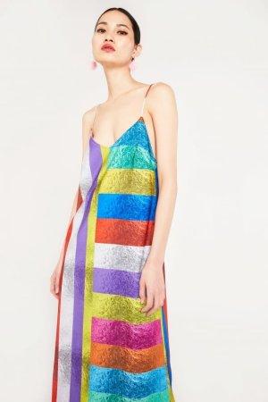 Skeena S Multi Stripe Strappy Dress With Tie Belt