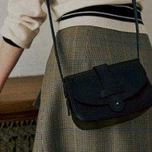 售价$98 轻松打造每日穿着的时髦风格ANCOTO 真皮斜挎包热卖 黑色驼色2色选