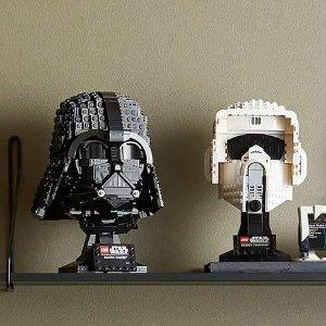 售价$84.43新品上市:LEGO乐高 星战 黑武士、帝国侦察兵头盔