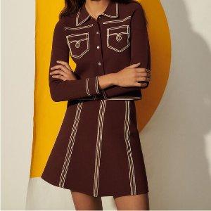 Sandro0-3码全A-line 针织短裙