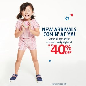 Up to 40% Off + Free ShippingOshKosh BGosh Latest Summer-ready Styles Sale
