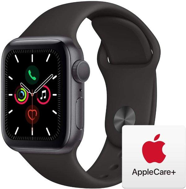 Apple Watch 5 (GPS, 40mm) 深空灰铝合金+黑色运动表带