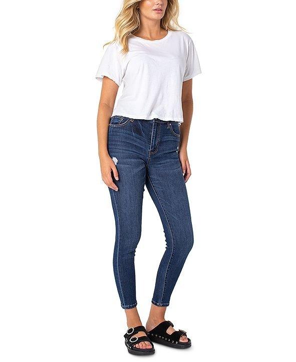 女士高腰牛仔裤