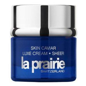 低至7.5折+额外7.8折 全球免邮La Prairie 全场美妆护肤热卖 美国定价6.8折收铂金精华