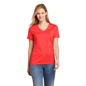Lands' EndWomen's Petite Supima Cotton Short Sleeve T-shirt - Relaxed V-neck