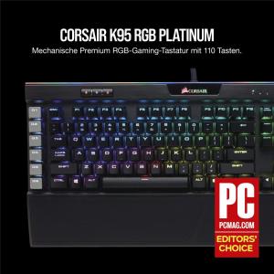 Corsair K95 RGB Platinum 美商海盗船 机械键盘