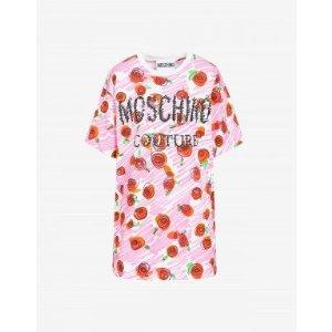 Moschino玫瑰T恤