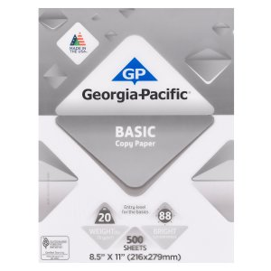 $2Georgia-Pacific Basic Copy Paper, 8.5