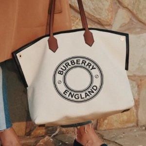 5.2折 $824.5 (官网$1590)Burberry Society 帆布托特包 定价下调 文艺度假风