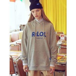 ROLAROLA(HD-19703) R:LOL Basic Hoodie T-Shirt Gray