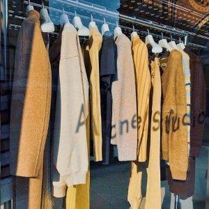 3折起!囧脸毛衣£90Acne Studios 超多5折以下 牛仔裤、T恤、开衫毛衣等速收