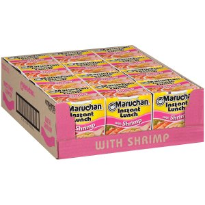 $3.36 + Free ShippingMaruchan Instant Lunch Shrimp Flavor, 2.25 Oz, Pack of 12