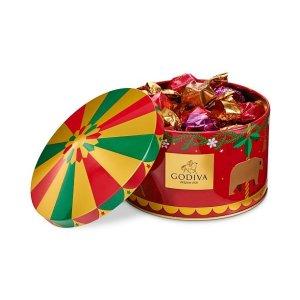 巧克力松露圣诞铁盒 12颗