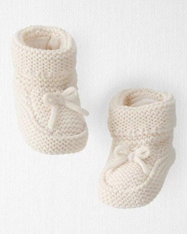 婴儿有机棉针织鞋