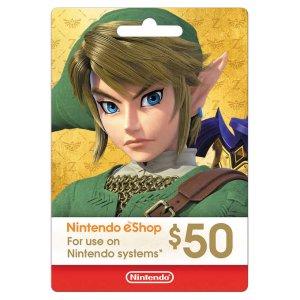 Nintendo eShop $50 Digital Card