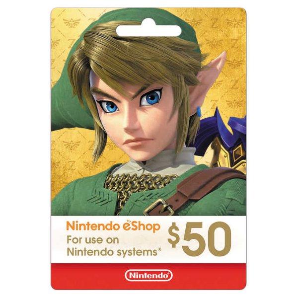 Nintendo eShop $50 电子礼卡, 春季特卖折上折