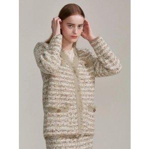 OCTETTETweed Knit Jacket-Mint