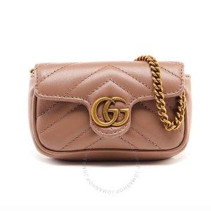 $397.99 (原价$530)Gucci GG Marmont 硬币零钱链条包 小巧迷人复古可爱