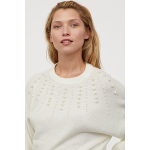 H&MKnit Sweater with Beads