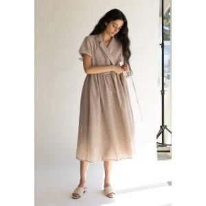 Oak + Fort小格纹裹身裙