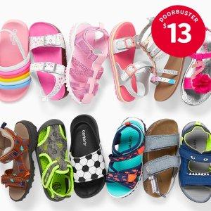 $10-$13最低价开门抢购折扣升级:Carter's官网 童鞋低至3.1折热卖,有闪灯款、3D超萌