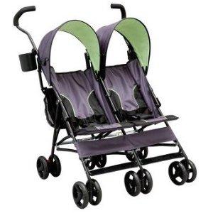 $60Delta Children LX Side by Side Tandem Umbrella Stroller, Lime Green @ Amazon
