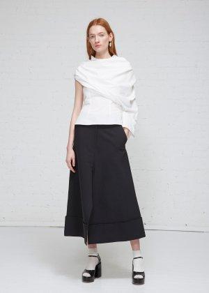 Totokaelo Black Gathered Skirt
