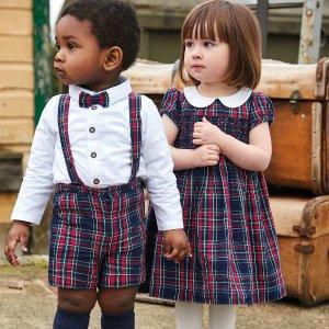 8折无税+免费拿Tote包折扣升级:JoJo Maman Bébé 婴幼童节日服饰热卖 浓浓英伦范儿
