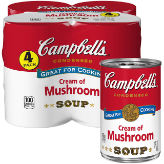 20% OffCampbell's Condensed Cream of Mushroom Soup (4 Count)