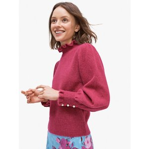 Kate Spadepearl-button cuff sweater