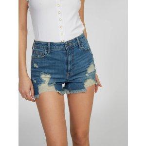 Zoey High Rise Denim Shorts at Guess