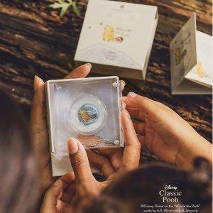 定价£10起 彩绘币£20起The Royal Mint 小熊维尼纪念币 超可爱收藏价值一流