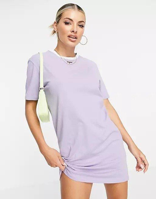 香芋紫T恤裙