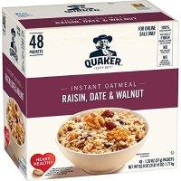 QUAKER 速溶早餐燕麦片 葡萄干+枣干+核桃 48包