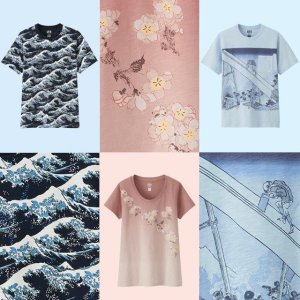 New Styles AddedHOKUSAI BLUE UT Collection @Uniqlo