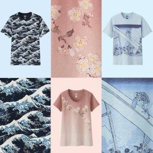$14.9 浮世绘既视感Uniqlo新品上线 HOKUSAI BLUE系列T恤热卖
