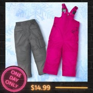 All for 14.99Kids Snow Bib & Pants One Day Sale @ Zulily